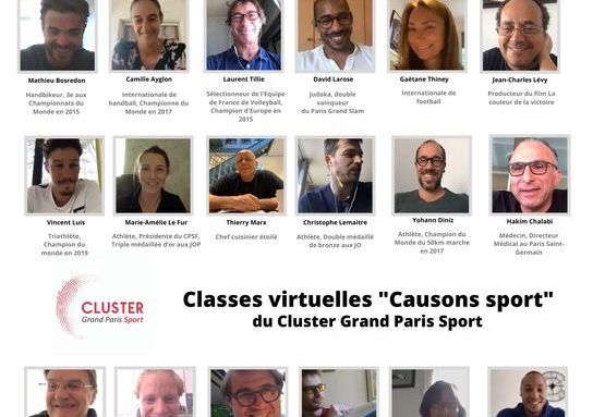 Classes virtuelles Causons sport avec des Champion.ne.s